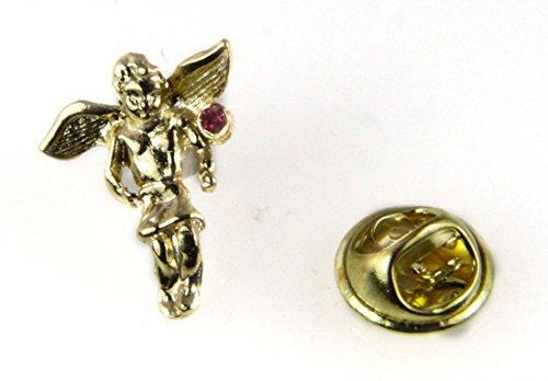 October Rhinestone Birthstone Angel Lapel Pin Guardian Protector Tie ... by