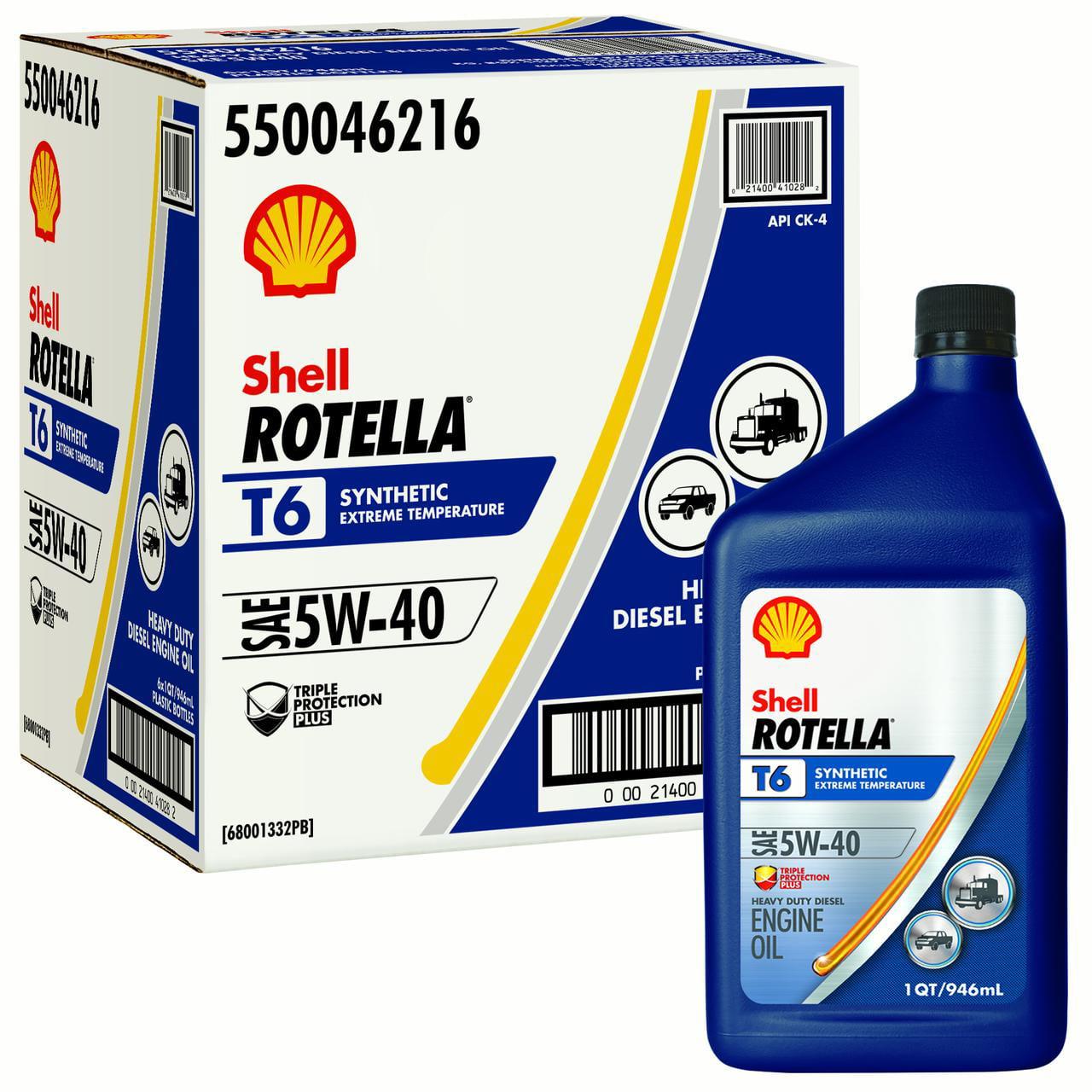 Shell Rotella T6 5w 40 Full Synthetic Heavy Duty Diesel