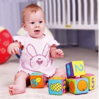 New Infant Baby Soft Cloth Building Blocks Educational Toys Rattles 6pcs/ Set