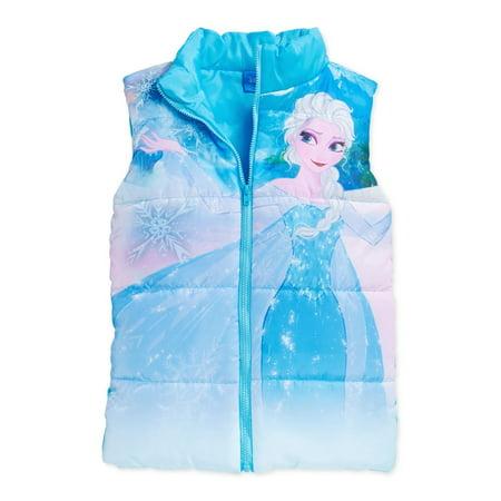 ccc598fca Frozen - Disney Girls Elsa Puffer Vest tropturq 2T - Toddler ...