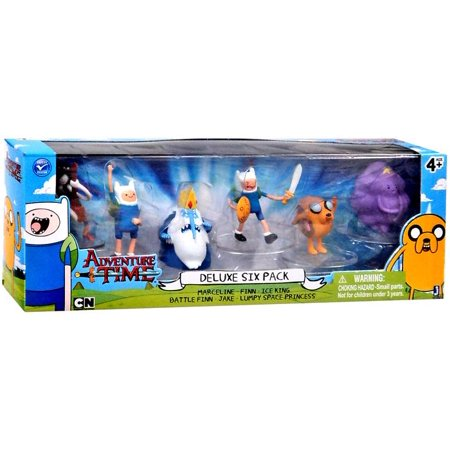Adventure Time Cartoon Network Deluxe Six Pack Mini Figure Set