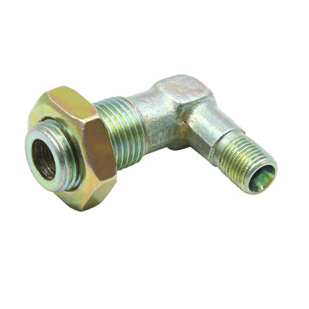 90 Degree Elbow 10mm Male to 16mm Male Thread Fitting Adapter Hex Nipple for Car