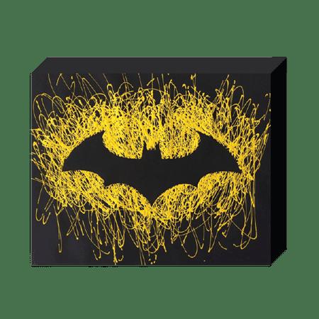 Halloween Batman Art (DC Comics, Paint Splatter Canvas,