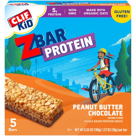 (3 pack) CLIF Kid® ZBar™ Peanut Butter Chocolate Whole Grain Protein Bars 5 ct