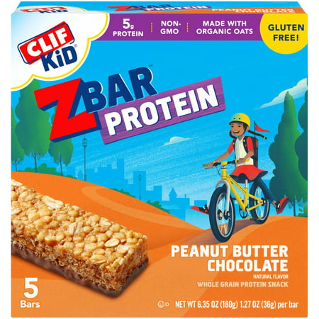 (3 pack) CLIF Kid® ZBar™ Peanut Butter Chocolate Whole Grain Protein Bars 5 ct Box