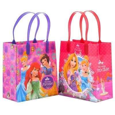 12PCS Disney Princess Goodie Party Favor Gift Birthday Loot Reusable Bags (Princess Goodie Bags)