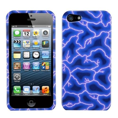 Apple iPhone se case by Insten Blue Lightning Phone Case for Apple iPhone SE / 5S / 5