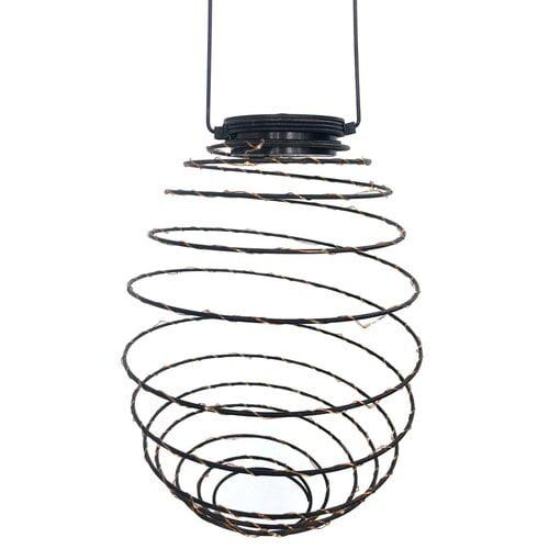 VCS Antique Bronze Solar Spiral Lantern