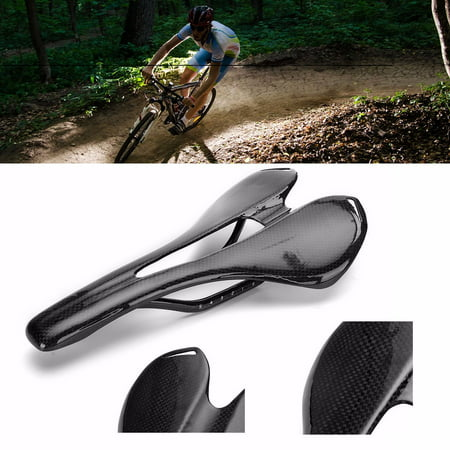 Ultralight Full Carbon Fiber Saddle Seat 3K MTB BMX Road Mountain Hollow Bike Bicycle Cycling Comfort Cushion - 8300 Carbon Fiber