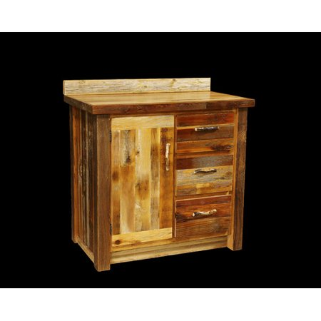 Utah Mountain Barnwood Bathroom Vanity Base Walmartcom - Bathroom vanities utah
