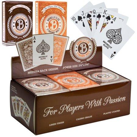 Deck Playing Cards, Elite Medusa Orange Brown Poker Playing Card,  12pc ()