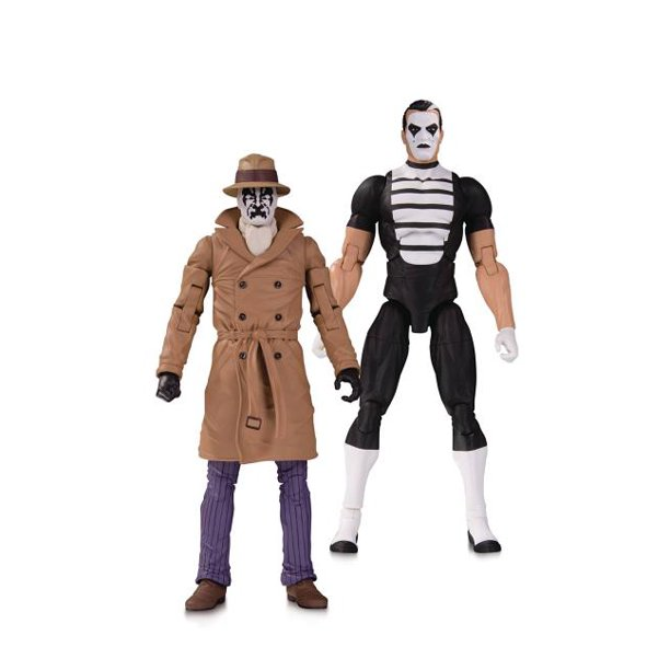 Dc Watchmen Doomsday Clock Rorschach Mime Action Figure 2 Pack