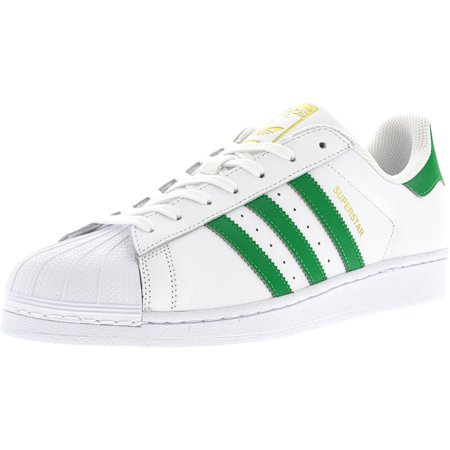 Adidas Men's Superstar Foundation Ftw White / Green Gold Metallic Ankle-High Fashion Sneaker - 11.5M ()