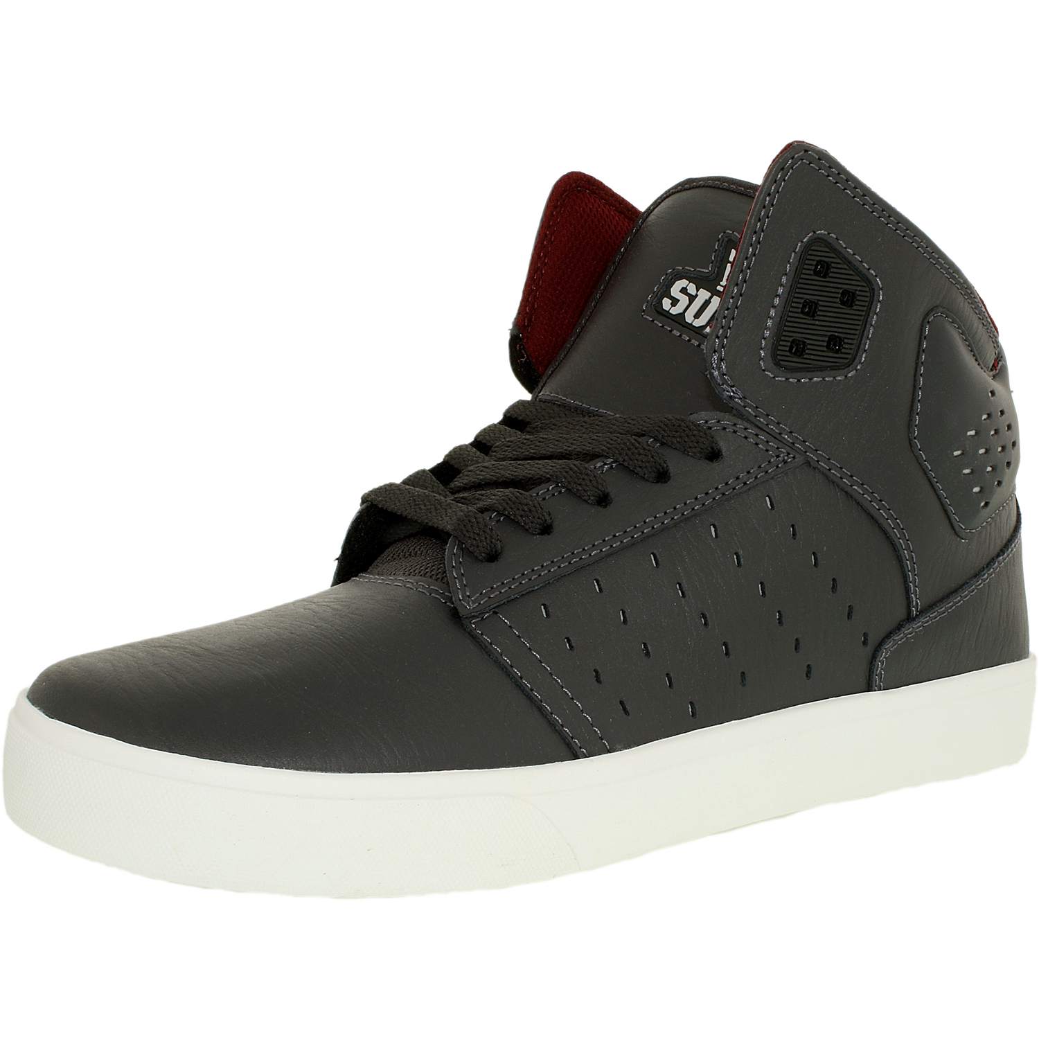 e136cdc0716a Supra Men s Atom Magnet White High-Top Suede Fashion Sneaker - 9.5M