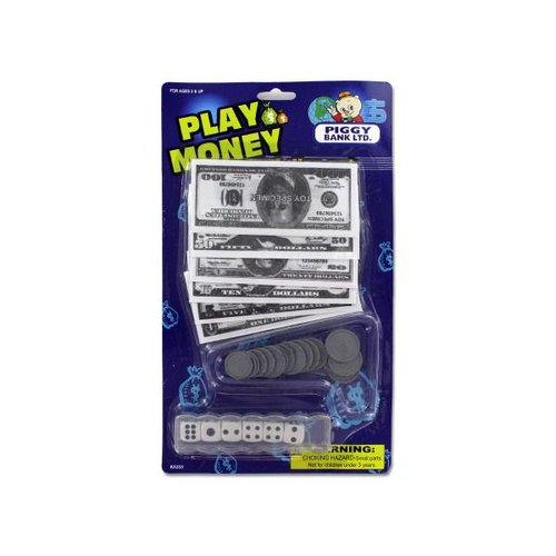 Bulk Buys Play Money with Dice, Case of 24