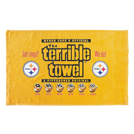 Pittsburgh Steelers Rings Terrible Towel - No Size
