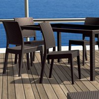 Compamia Florida Resin Wicker Dining Chair with Optional Cushion - Set of 2