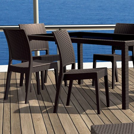 Compamia Florida Resin Wicker Dining Chair with Optional Cushion - Set of 2 ()