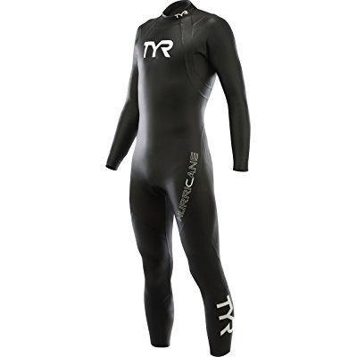 tyr men's hurricane wetsuit category 1, black/white,