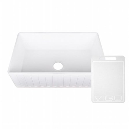 Vigo Industries Vgra3318cs Matte Stone Farmhouse Sink  44  33 In