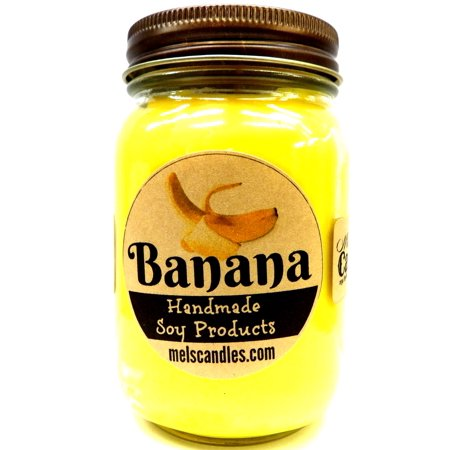 Banana 16 ounce Country Jar Handmade Soy - Country Clothesline Soy Candle