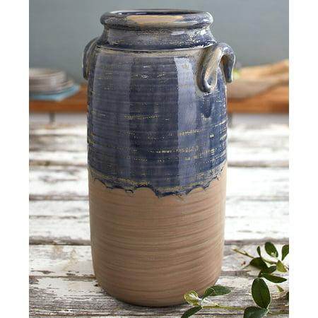 Countryside Stoneware Tall Vase -