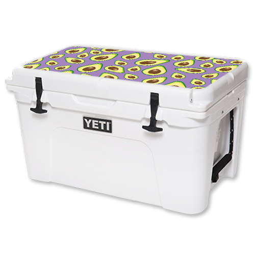 MightySkins Protective Vinyl Skin Decal for YETI Tundra 45 qt Cooler Lid wrap cover sticker skins Purple Avocados
