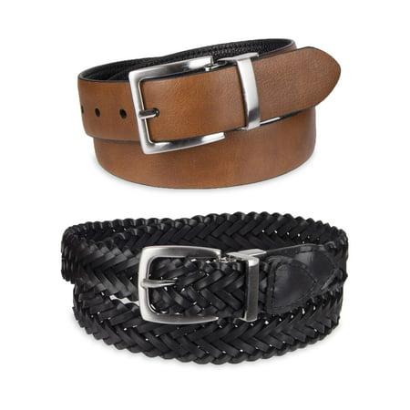 Reversible Kids Belt (Wonder Nation 2 Pack Reversible Boy's Dress Belts)
