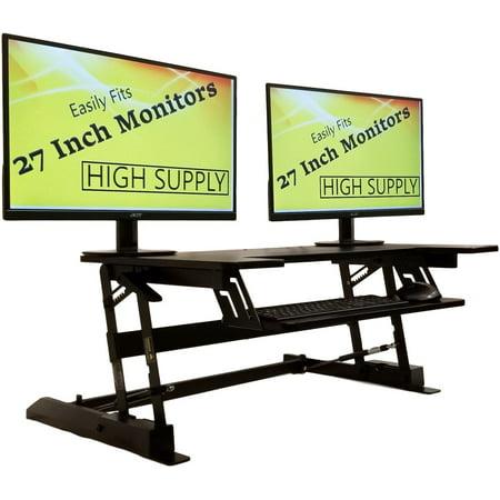 (Standing Desk Height Adjustable Stand - Up Sit Stand Desks Converter Standup Workstation Fits Big Monitors 36