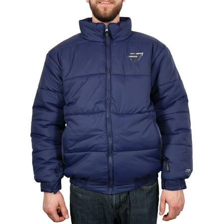 Freeze Defense Men's Down Alternative Winter Jacket Coat (Small - Blue) Small Jacket Coat