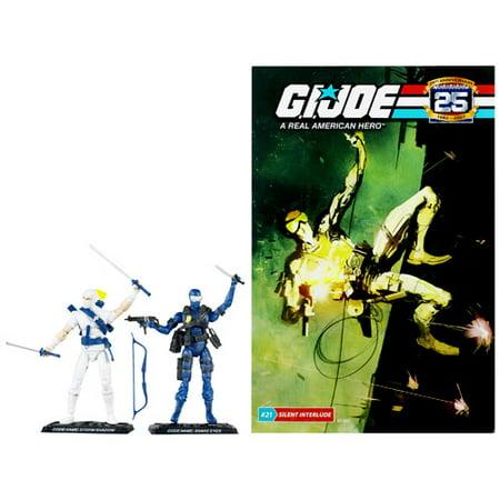 GI Joe 25th Anniversary Snake Eyes Vs. Storm Shadow Comic Pack Figure Set
