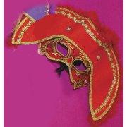 Sea Captain Hat Venetian, Masquerade, Mardi Gras Mask W/Marabou Trim
