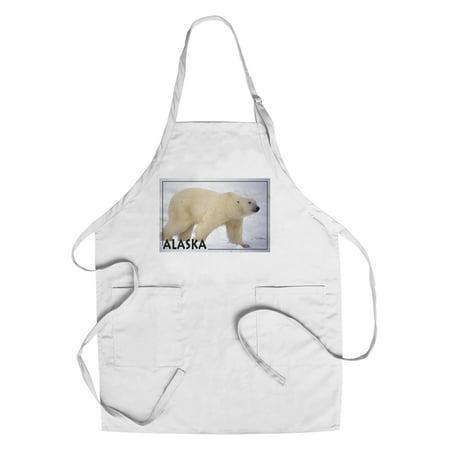 Polar Bear Side View - Alaska - Lantern Press Photography (James T. Jones) (Cotton/Polyester Chef's