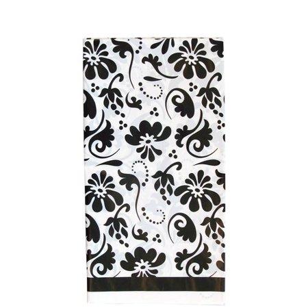 Black Paisley Flowers Plastic Table Cover 1ct Walmart Com