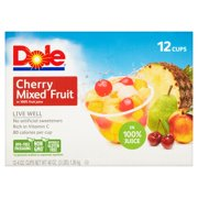 Dole® Cherry Mixed Fruit in 100% Fruit Juice 12-4 oz. Cups