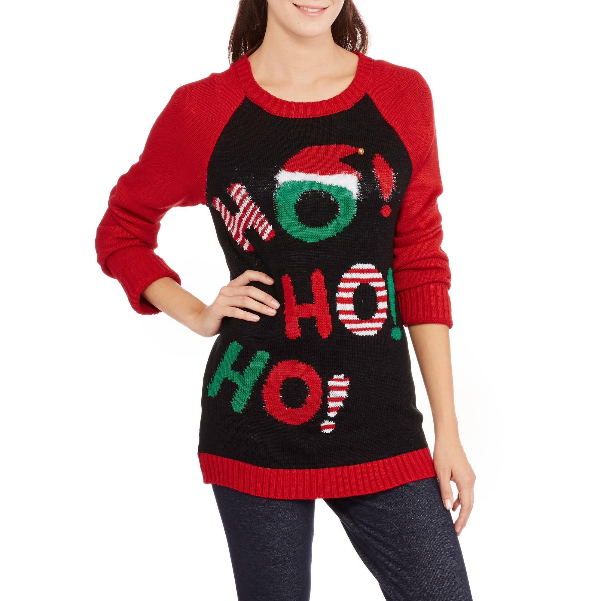 No Boundaries Juniors' Christmas Sweater - Walmart.com