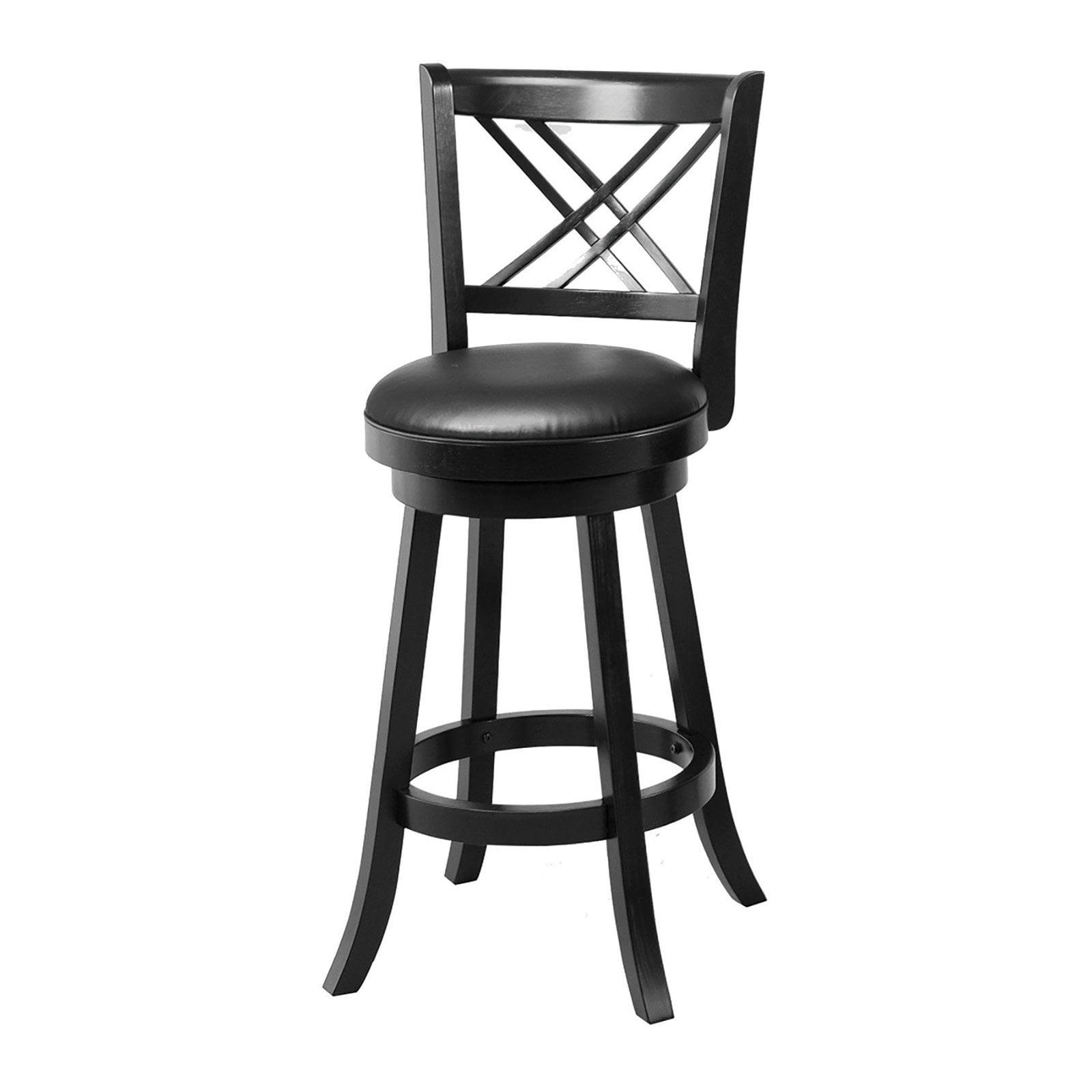 Coaster Furniture Cross Back 29 In Swivel Bar Stool Set