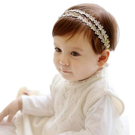 Rhinestone Headband Hairband Baby Girls Flowers Headbands