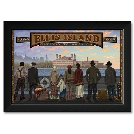 Ellis Island New York Framed Art Print by Paul A. Lanquist. Print Size: 12