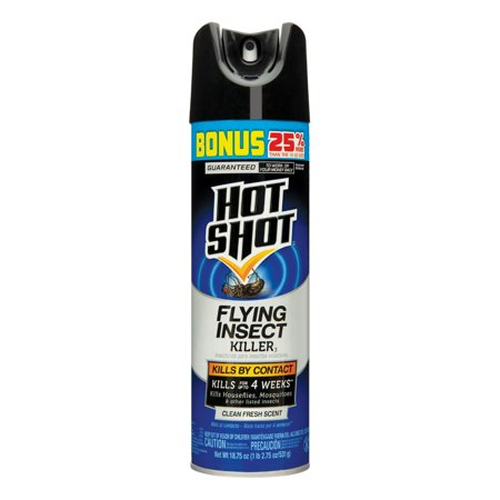 Hot Shot Flying Insect Killer, Clean Fresh Scent, Aerosol, 18.75-oz