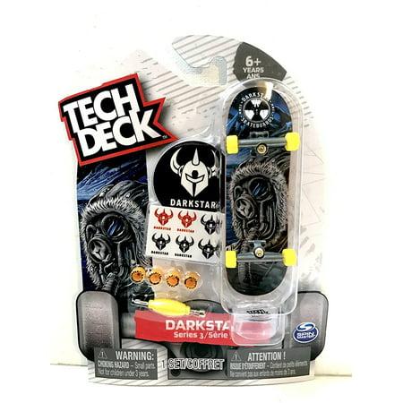 Tech Deck DarkStar Skateboards Series 3 Fingerboarding with Stickers & Stand By Spin Master From (Darkstar Decks)
