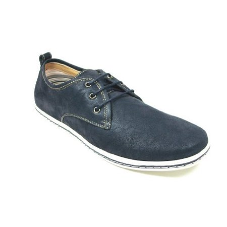 Polar Fox Men's 30207-Blue Leatherette Low Cut