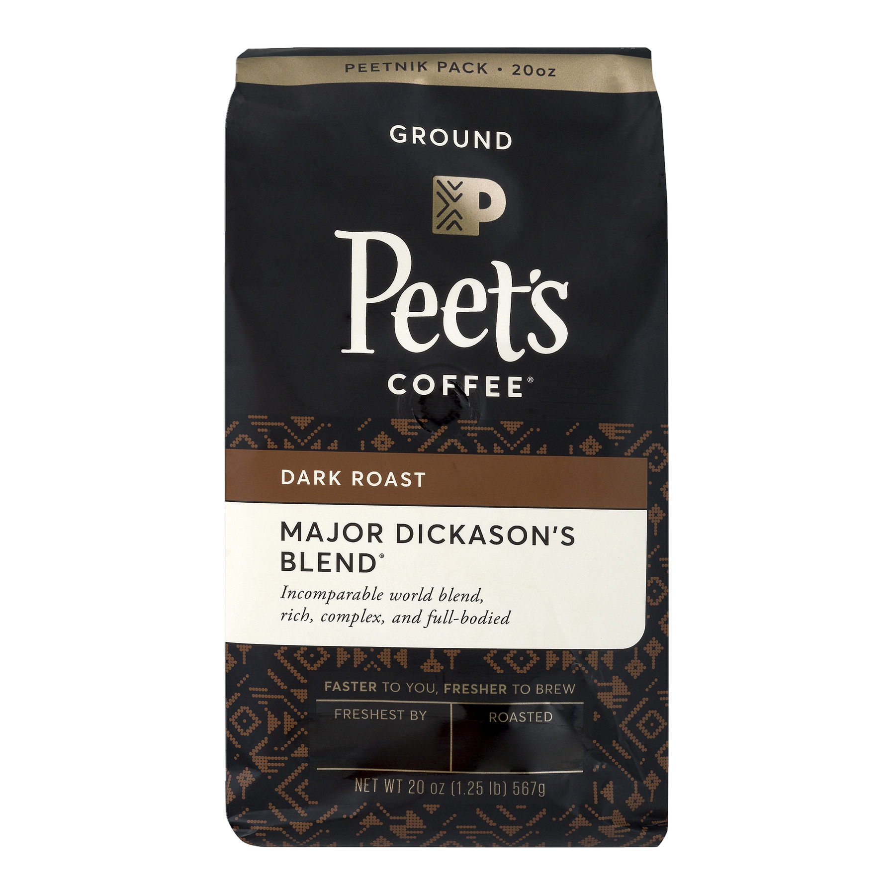 Peet's Coffee® Major Dickason's Blend Dark Roast Ground Coffee 20 oz. Stand Up Bag