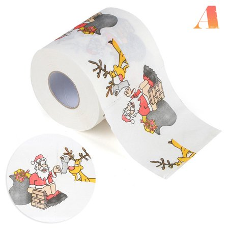 2 Roll Household Christmas Pattern Series Roll Paper Prints Funny Toilet Paper