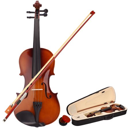 New 1/4 Acoustic Violin for Kids Boys Girls, Solid Wood Violin Acoustic Starter Kit with Violin Fiddle Case, Bow, Rosin, Violin Outfit Set for Beginners