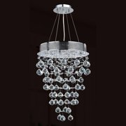 "Worldwide Lighting W83211C16 Chrome Icicle 7 Light 1 Tier 16"" Chrome Chandelier"