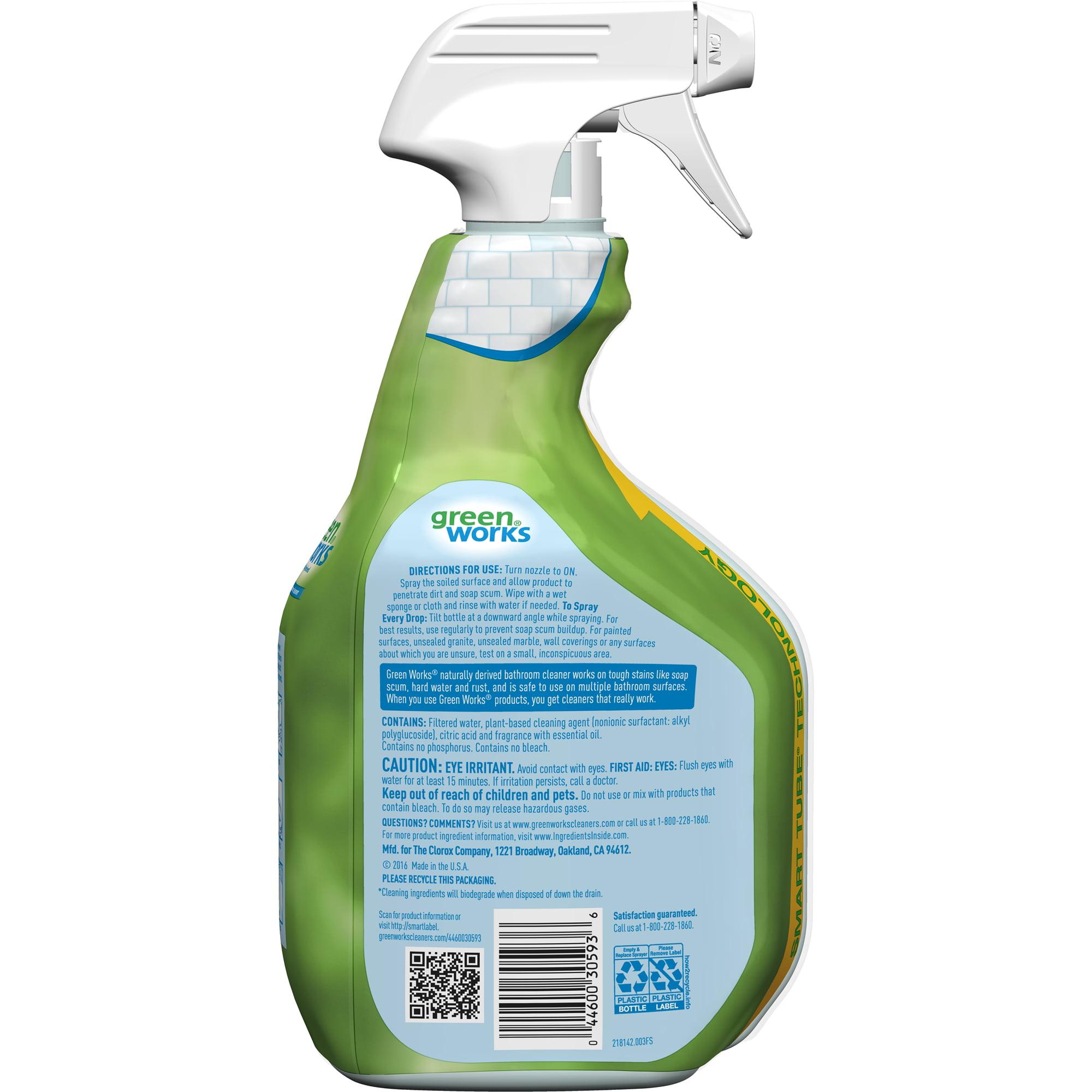 Green Works Bathroom Cleaner Spray, Original Fresh, 30 oz - Walmart.com