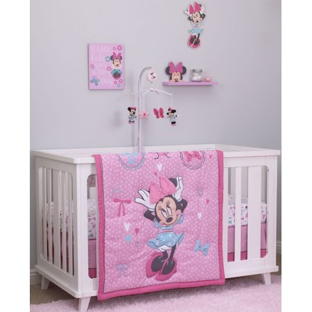 Disney Minnie Mouse 4pc Crib Bedding Set