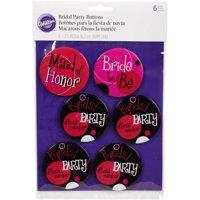 Wilton Bachelorette Party Accessories Bridal Party Buttons, 1 Ct