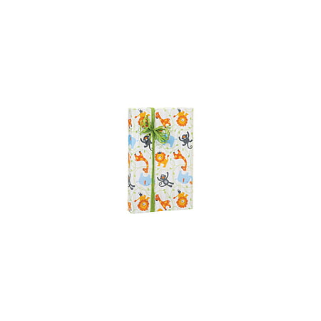 Sweet Safari Jungle Animals Birthday / Special Occasion Gift Wrap Wrapping Paper-16ft